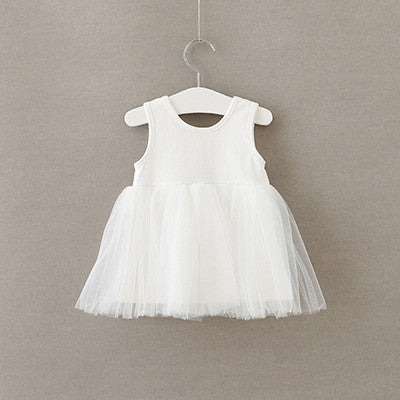 2017 new arrivals summer baby girls princess solid Mini dress 1-4 years girl solid color dresses toddler birthday party dress