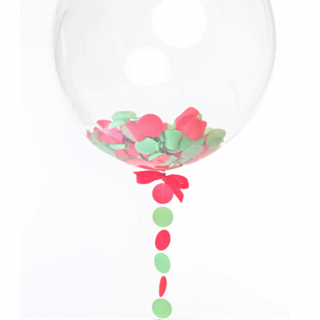 Merry Christmas Confetti Balloon