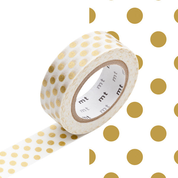 Gold Dots Masking Tape