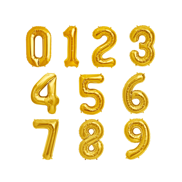 "16"" Gold Balloon Numbers"