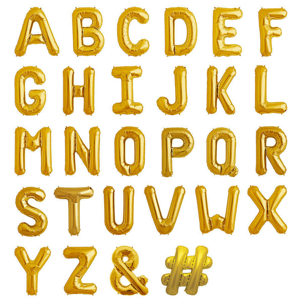 "16"" Gold Balloon Alphabets"