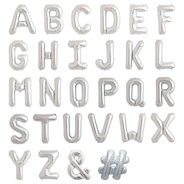 "16"" Silver Balloon Alphabets"