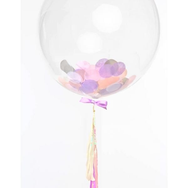 Unicorn Confetti Balloon with Tassel Garland