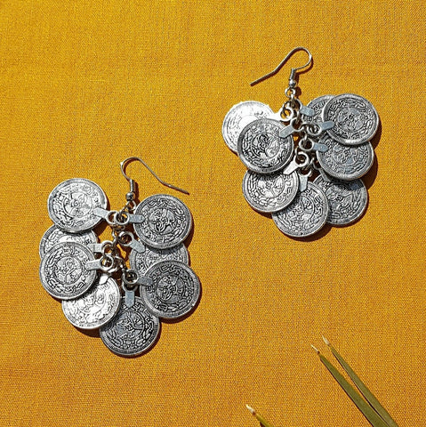 Coin Charm Vintage Earrings - Tausii
