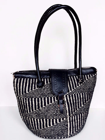 Black & White Kiondo Handbag - Tausii