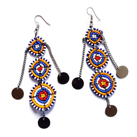 Mosaic Masai Earrings - Tausii