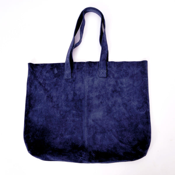 Blue Moroccan Suede Tote bag - Tausii