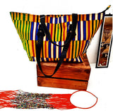 Kente Tote Purse - Tausii