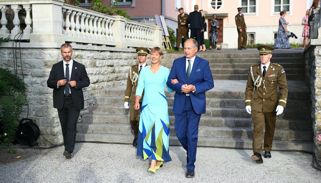 The President of Estonia Kersti Kaljulaid's Dress Is a Statement for Sustainability