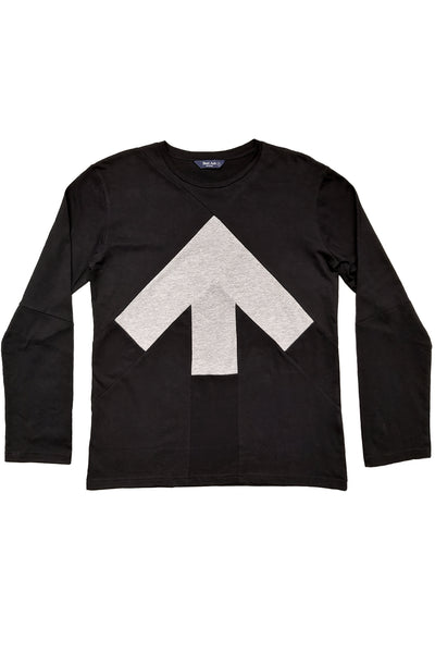 Up-shirt for men, long sleeves | Black, grey