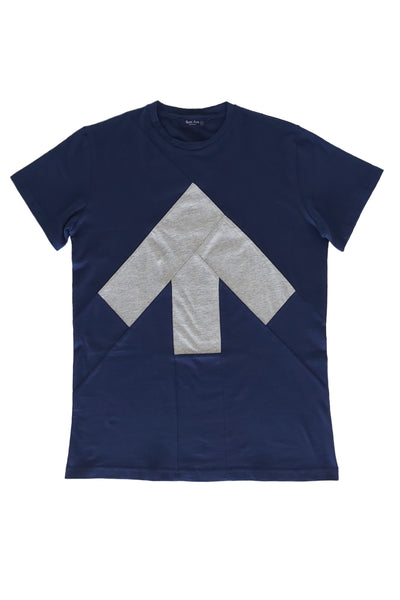 Up-shirt for men | Dark blue, grey