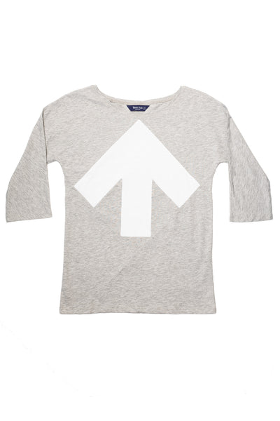 Up-shirt for women, 3/4 sleeves | Grey, white