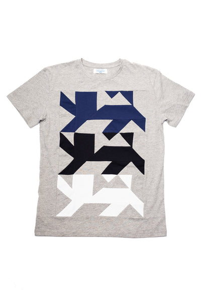 AUS/KARU lion shirt for men | Light grey, tricolor