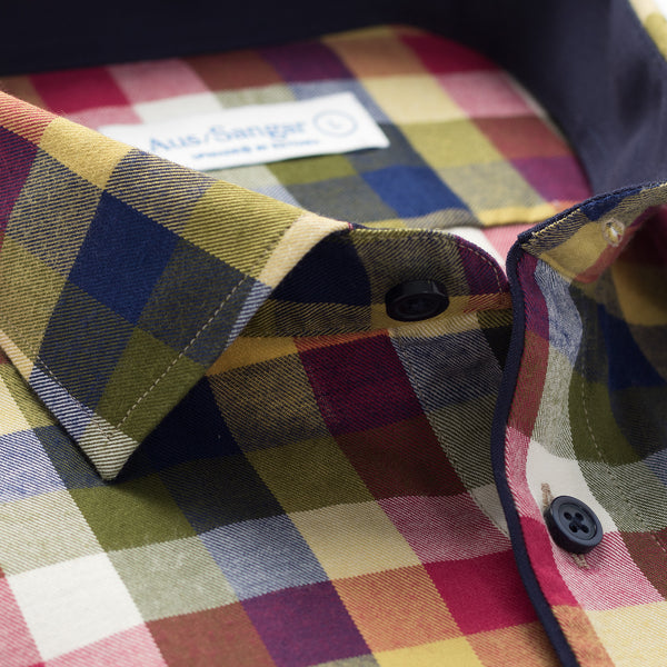 Aus/Sangar shirt for men | Checkered yellow