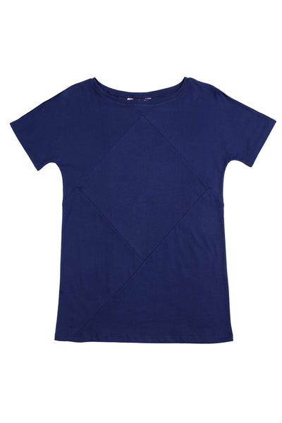 Up-shirt for women, diamond motif | Dark blue