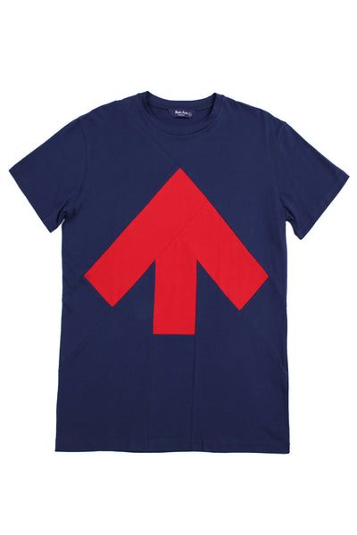 Up-shirt for men | Dark blue, red