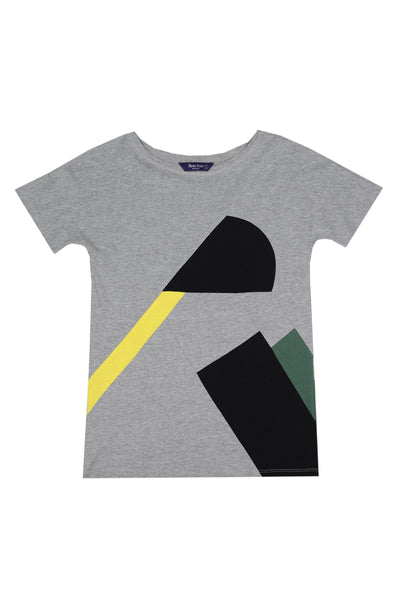 Up-shirt for women, Avant-garde | Light grey, multi