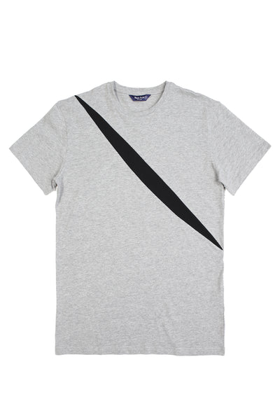 Up-shirt for men, slash motif | Grey, black