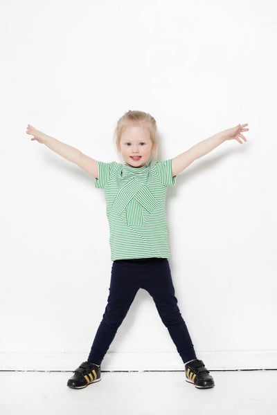 Up-shirt for kids: green striped