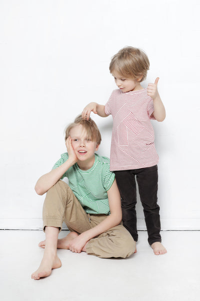 Up-shirt for kids: red striped