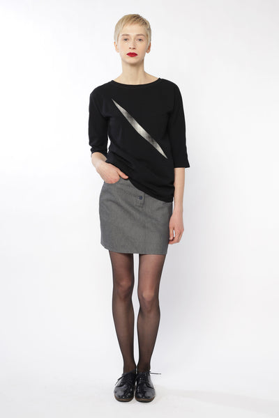 Mini skirt | Grey