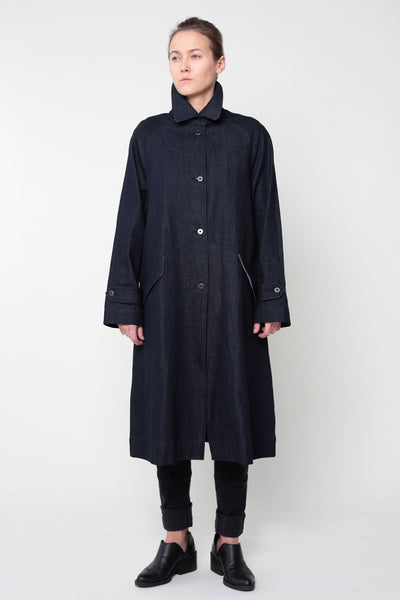 Denim coat dark blue