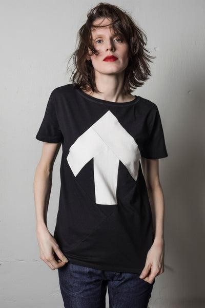 Up-shirt for women | Black, white