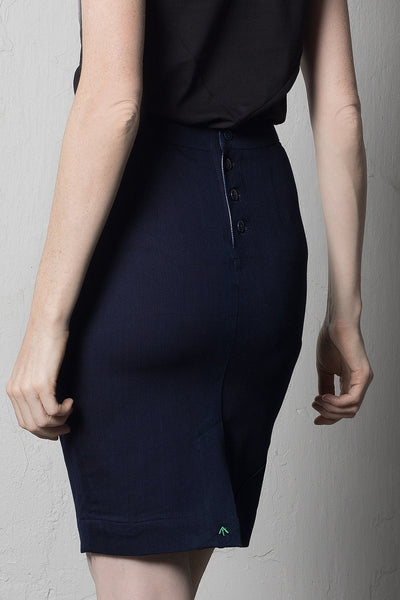 Pencil skirt | Dark blue