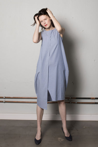 Asymmetric dress light blue
