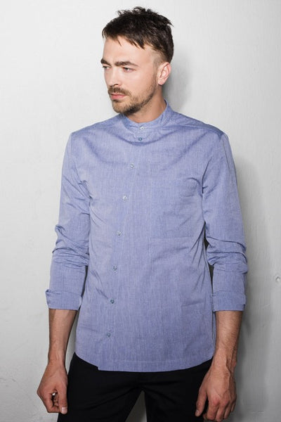 Men's asymmetric hem shirt