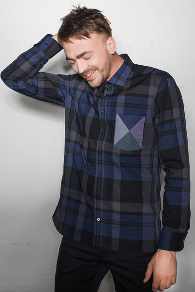 Aus/Sangar shirt for men | Checkered dark