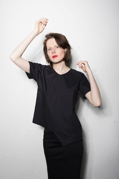 Asymmetric shirt | Black