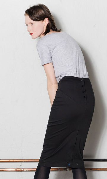 Over knee pencil skirt / W303B