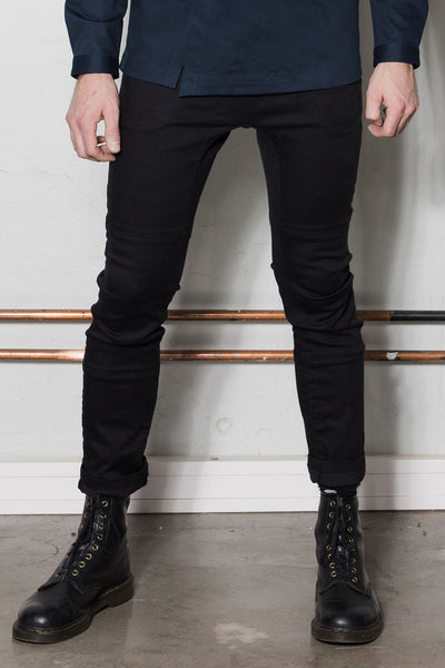 Asymmetric trousers for men