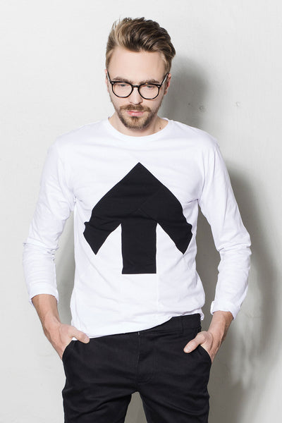 Up-shirt for men, long sleeves |  White, black