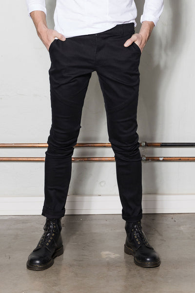 Chino jeans for men in black