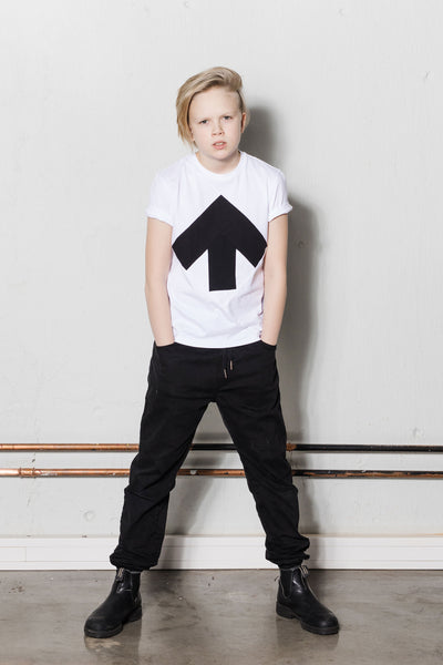 Up-shirt for kids | White, black
