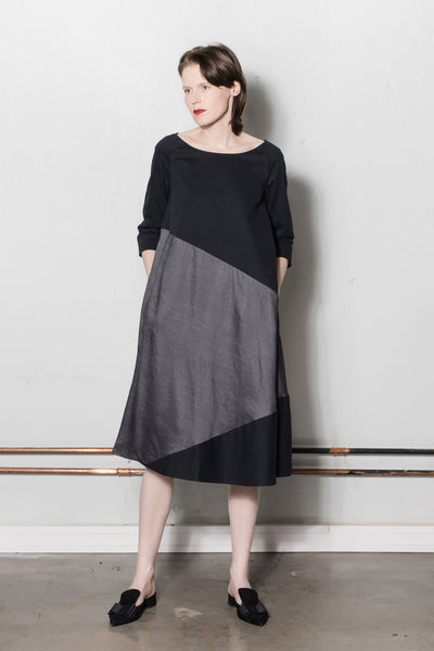 A-line dress | Black, dark grey