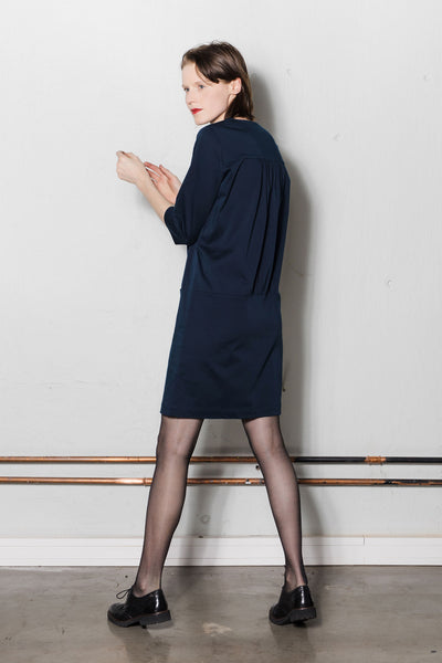 Drop waist dress | Dark blue