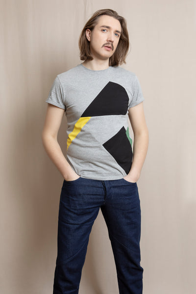 Up-shirt for men, Avant-garde | Light grey, multi