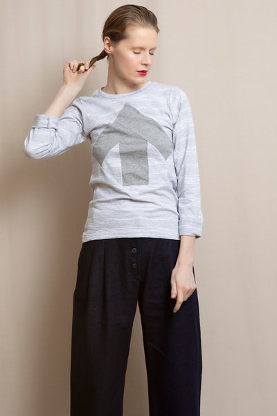 Up-shirt for women, long sleeves | Light grey, grey