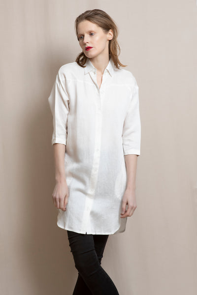 Shirt dress | White