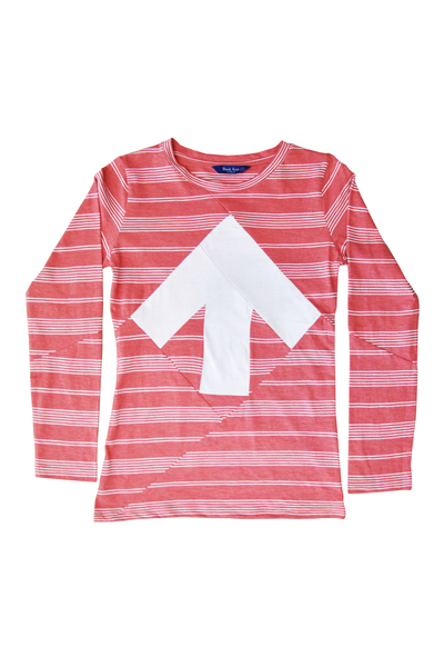 Up-shirt for women, long sleeves | Red, white