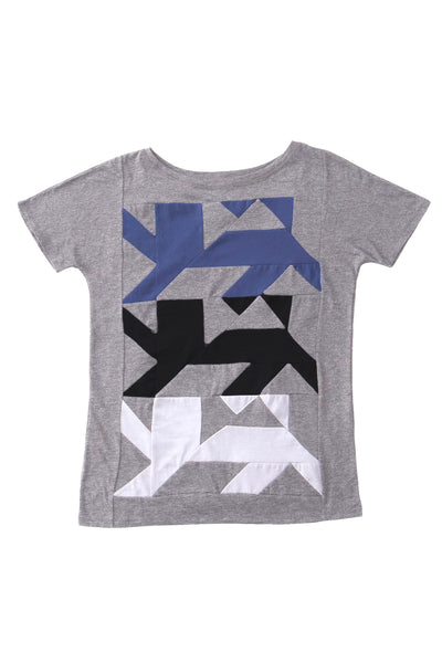 AUS/KARU lion shirt for women | Light grey, tricolor