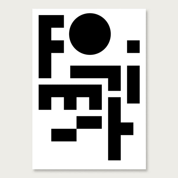 Formist Poster One