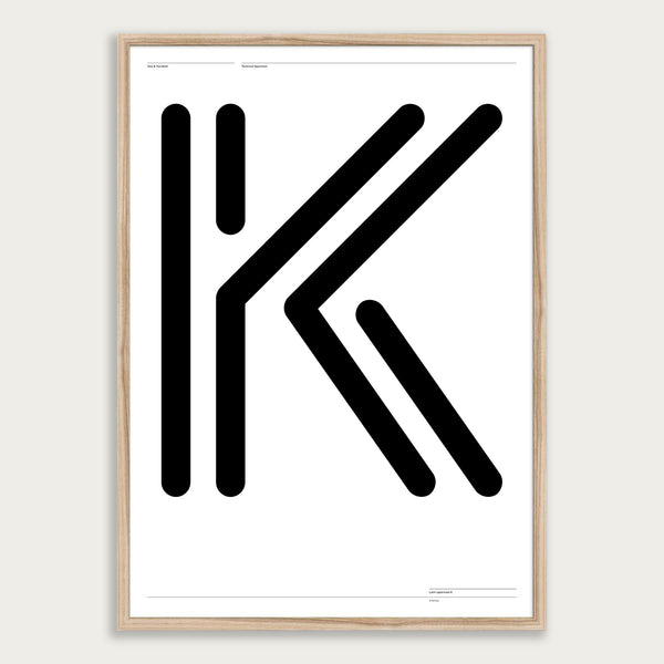 'One & Two K' poster <br>Framed giclée print