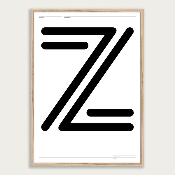'One & Two Z' poster <br>Framed giclée print