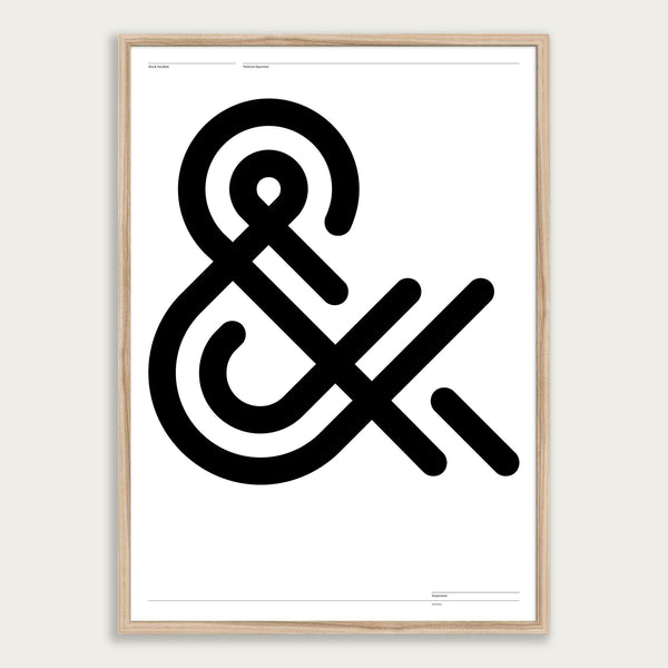 'One & Two Ampersand' poster <br>Framed giclée print