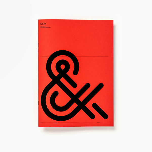 One & Two Font Specimen
