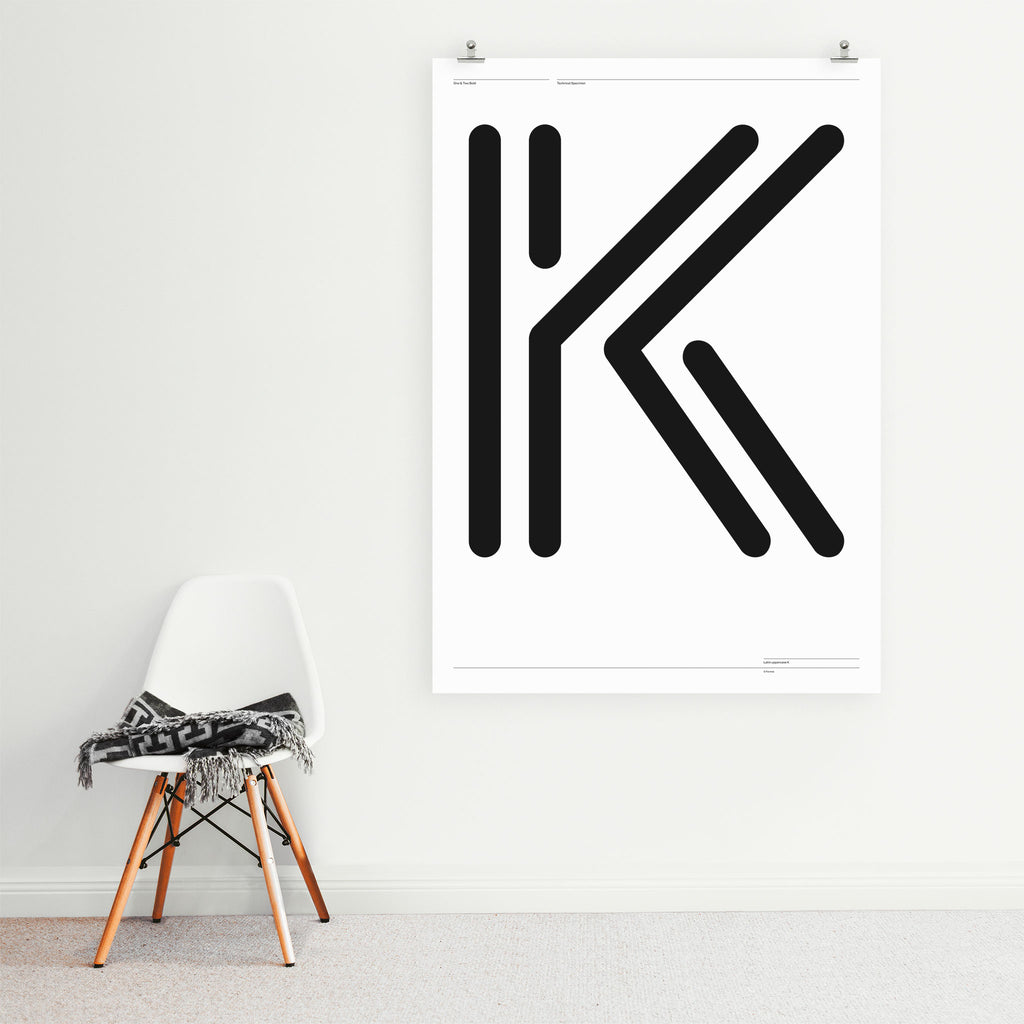 'One & Two K' poster <br>Giclée print